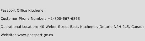 Passport Office Kitchener Phone Number Customer Service