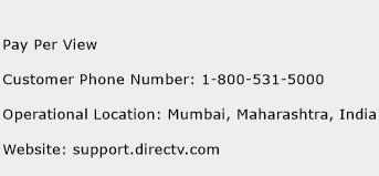 Pay Per View Phone Number Customer Service