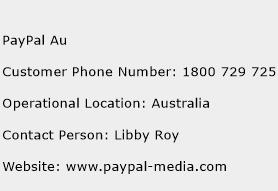 PayPal Au Phone Number Customer Service