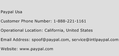 Paypal Usa Customer Service