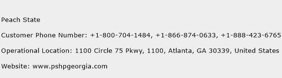 Peach State Phone Number Customer Service