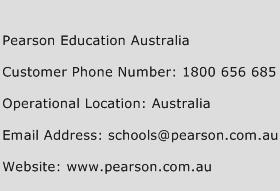 Pearson Education Australia Phone Number Customer Service