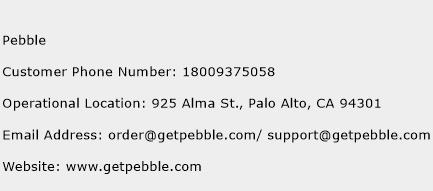 Pebble Phone Number Customer Service