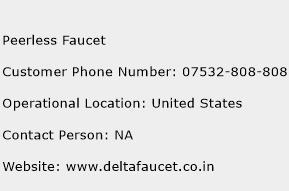 Peerless Faucet Phone Number Customer Service