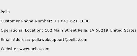 Pella Phone Number Customer Service