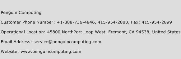Penguin Computing Phone Number Customer Service
