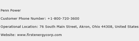Penn Power Phone Number Customer Service