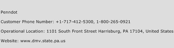 Penndot Phone Number Customer Service