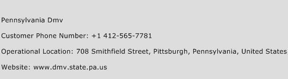 Pennsylvania DMV Phone Number Customer Service