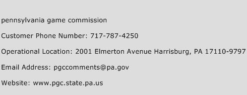 Pennsylvania Game Commission Phone Number Customer Service