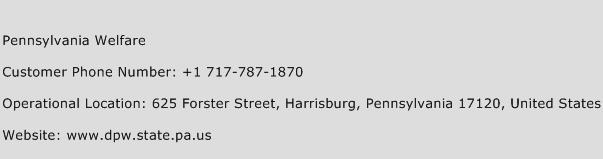 Pennsylvania Welfare Phone Number Customer Service