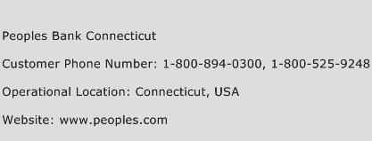 Peoples Bank Connecticut Phone Number Customer Service