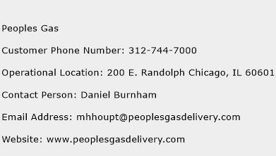 Peoples Gas Phone Number Customer Service