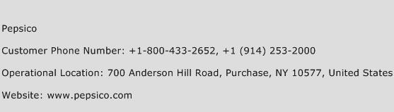 Pepsico Phone Number Customer Service