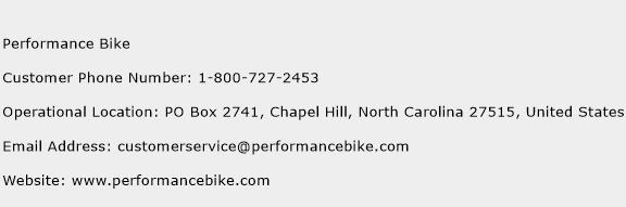 Performance Bike Phone Number Customer Service