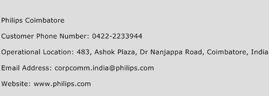 Philips Coimbatore Phone Number Customer Service