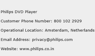Philips DVD Player Phone Number Customer Service