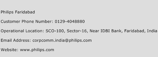 Philips Faridabad Phone Number Customer Service