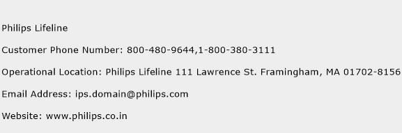 Philips Lifeline Phone Number Customer Service