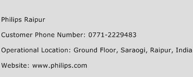 Philips Raipur Phone Number Customer Service