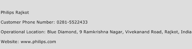 Philips Rajkot Phone Number Customer Service