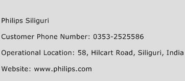 Philips Siliguri Phone Number Customer Service