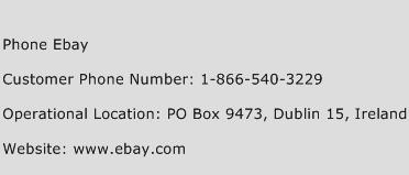 Phone Ebay Phone Number Customer Service