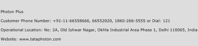 Photon Plus Phone Number Customer Service