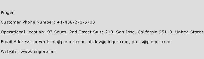 Pinger Phone Number Search