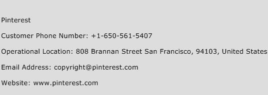 Pinterest Phone Number Customer Service