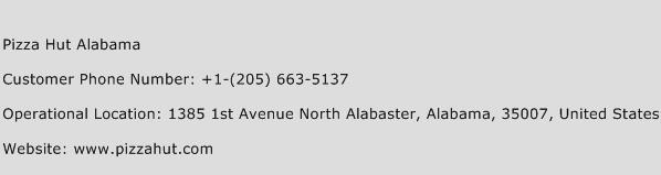 Pizza Hut Alabama Phone Number Customer Service