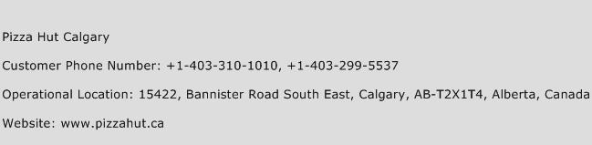 Pizza Hut Calgary Phone Number Customer Service