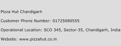 Pizza Hut Chandigarh Phone Number Customer Service