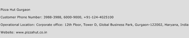 Pizza Hut Gurgaon Phone Number Customer Service