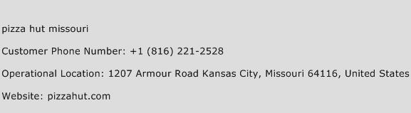 Pizza Hut Missouri Phone Number Customer Service