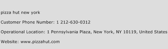 Pizza Hut New York Phone Number Customer Service