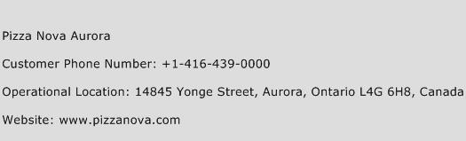 Pizza Nova Aurora Phone Number Customer Service