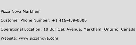 Pizza Nova Markham Phone Number Customer Service
