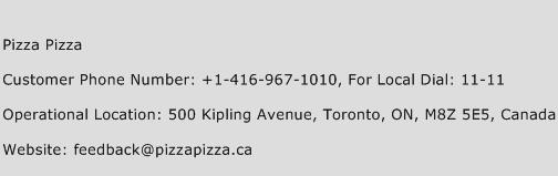 Pizza Pizza Phone Number Customer Service