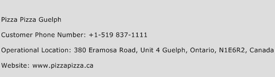 Pizza Pizza Guelph Phone Number Customer Service