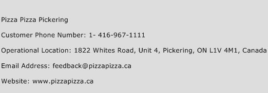 Pizza Pizza Pickering Phone Number Customer Service