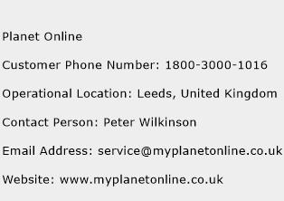 Planet Online Phone Number Customer Service