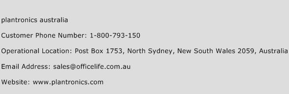 Plantronics Australia Phone Number Customer Service