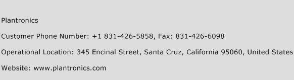 Plantronics Phone Number Customer Service