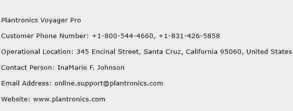 Plantronics Voyager Pro Phone Number Customer Service
