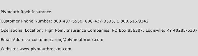 Plymouth Rock Insurance Phone Number Customer Service