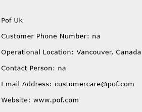 pof support phone number