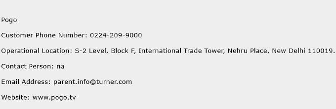 Pogo Phone Number Customer Service