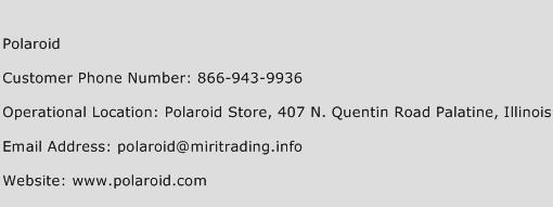 Polaroid Customer Service Phone Number | Contact Number | Toll ...