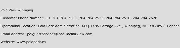 Polo Park Winnipeg Phone Number Customer Service